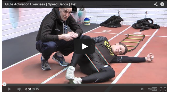 Glute activation exercises with Speed Bands - Instant Speed Training